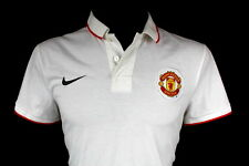 SHIRT MANCHESTER UNITED NIKE WHITE TRAINING POLO JERSEY SIZE (M)