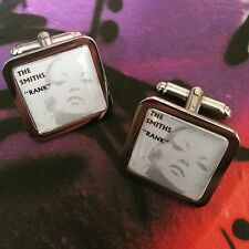 Unique THE SMITHS CUFFLINKS chrome 'RANK' ALBUM COVER retro MORRISSEY manchester