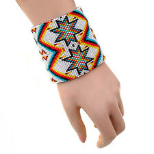 MULTICOLORED NATIVE AMERICAN STYLE INSPIRED BRACELET LEATHER B41/8