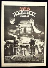 THE BEATLES 1976 Poster Ad ROCK 'N' ROLL MUSIC rock-ola