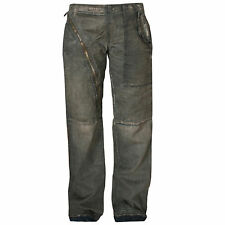 RICK OWENS DrkShdw aircut baggy straight leg distressed denim zipper jeans 32