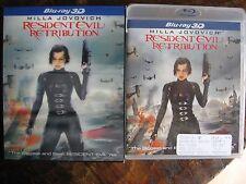Resident Evil Retribution 3D Blu Ray w/Lenticular Slip Cover Sealed.