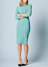 Boden Aurelia Ottoman pencil wiggle stretch dress in turquoise UK 8 10 US 4 6