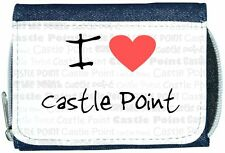 I Love Heart Castle Point Denim Wallet