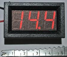 LED Panel Voltmeter 3 Stellig Steckbar 3,3-30V DC Auto Range
