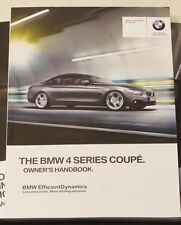 Genuine BMW serie 4 Coupe F32 Manual Owners Manual 2013-2015 Libro