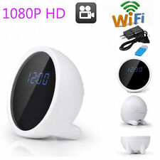 1080P HD Hidden Alarm Clock WiFi Table Clock IP Camera Wireless Camcorder DVR