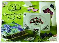 HOUSE OF CRAFTS FLOWER PRESSING CRAFT KIT GIFT SET WOODEN PRESS GREETINGS CARDS
