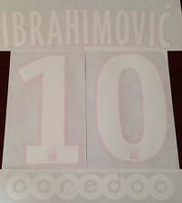Kids 2015-16 Ligue 1 IBRAHIMOVIC#10 Home Shirt OFFICIAL MonBlason Name Print Set