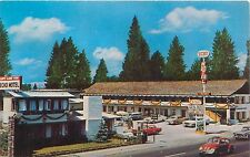 SOUTH LAKE TAHOE CALIFORNIA ECHO MOTEL HWY 50 AT SKI RUN BLVD POSTCARD c1960s