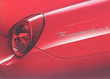 2002 Ford Thunderbird  2 brochures  showroom fresh condition