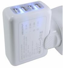 Universal 4-Way Multiple 2A 5V Multi USB Port Power Adapter Charger Phone