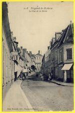 cpa RARE 28 NOGENT le ROTROU (Eure et Loir) La Rue de la HERSE Ed. Jules Renoult