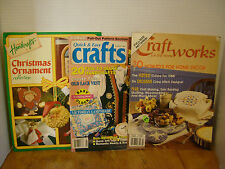 Country Handcrafts,Craft Magazines PATTERNS  lot of 3