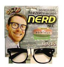 BILLY BOB NERD SET INCLUDES GLASSES AND TEETH WITH BRACES complete set fake fun
