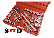 "22 PC 3/4"" SQUARE DRIVE HEAVY USE DUTY METRIC RATCHET SOCKET T BAR SET CT0921"