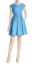 Weekend By Maxmara, Cornflower blue silk and linen fit and flare dress was £225