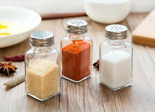 Glass Seasoning Salt Spice Bottle Cruet Shaker Jar Holder Container Barbecue BBQ