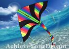 150x80cm Dark Rainbow Delta Kite Line Grip included OKITE2501 & OKLIN2100
