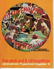1971 Cincinnati Reds Baseball Yearbook magazine Pete Rose~ Johnny Bench~ Lee May