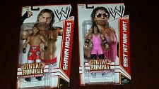 MATTEL ELITE WWE SHAWN MICHAELS HBK BRET HIT MAN HART ROYAL RUMBLE HERITAGE RARE