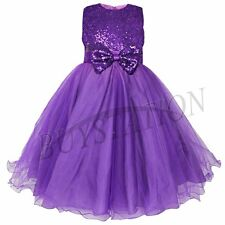 Kids Communion Party Baby Princess Pageant Bridesmaid Wedding Flower Girl Dress
