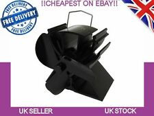 Voda Mini Stove Fan, Log Burner, Fire Fan, Heat, Wood Burning in Black