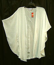 WHITE OPEN FRONT KIMONO KAFTAN CARDIGAN JACKET DUSTER TOP~OS~2X~1X~0X~XL~XXL