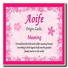 Aoife Personalised Name Meaning Coaster