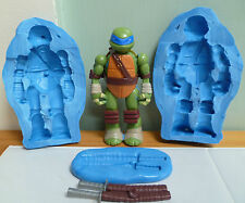 3D Teenage Mutant Ninja Turtle de Silicona Molde para Cake Toppers, CHOCOLATE, ARCILLA