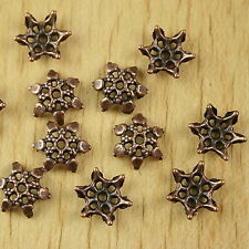 60pcs  copper-tone flower spacer beads h2365