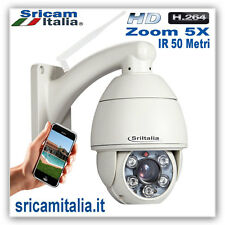 IP CAMERA WIRELESS DOME  WIFI PTZ ZOOM 5X HD HD  IRCUT LED 50 METRI H.264 SRICAM