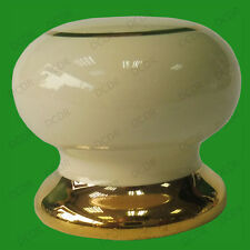 4x Harvington Ceramic Cream & Gold Knob 35mm Cabinet Wardrobe Door Knobs Kitchen