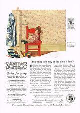 1920s BIG VINTAGE Sanitas Wallpaper Wall Covering Carl Heck Doll Art Print AD
