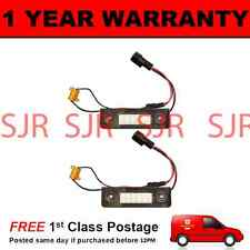2X FOR SKODA OCTAVIA 2008 On ROOMSTER 2006-2010 18 WHITE LED NUMBER PLATE LAMPS