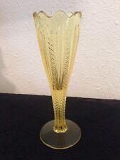 Mardi Gras Vase Duncan Miller Of US Glass Tiffin Golden Banana 1955