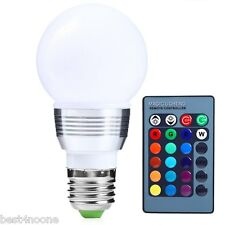 3W E27 85-265V 6 Color LED RGB Magic Spot Light Bulb Lamp with Remote Control
