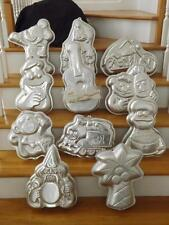 Wilton Cake Pan Mold Lot 11 Palm Tree Wizard Guitar Harley Mickey Cookie Monster