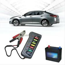 6-LED Lights Display Car Digital Battery / Alternator Tester Button Cell Checker