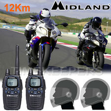 Midland G7 Pro LPD Motorbike Walkie Talkie Radio Intercom Close Face Headsets