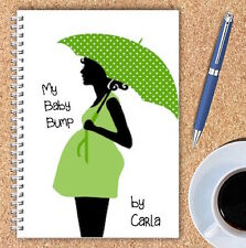 A5 PERSONALISED PREGNANCY DIARY, WIRE BOUND PREGNANCY JOURNAL, GIFT, OWN NAME,11