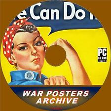 WAR POSTERS ARCHIVE ON PC-CD VIEW/PRINT 4500+ NOSTALGIC IMAGES FROM WW2 ERA NEW