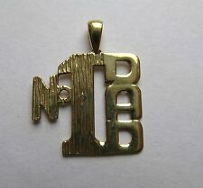 9ct Gold Number 1 Dad Pendant 1g