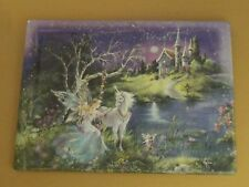 Dream Castles TRUST Plate #3 Mimi Jobe Fairies Fairy Unicorn MIB + COA Castle