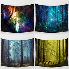 Forest Tree Indian Tapestry Beach Towel Bedspread Blanket Wall Hanging Throw Mat