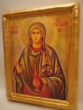 Saint Mary Magdalene Rare Catholic and Byzantine Greek Orthodox Wooden Icon