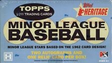 2011 TOPPS HERITAGE MINORS HOBBY BOX Mike Trout, Bryce Harper Rookie Autograph