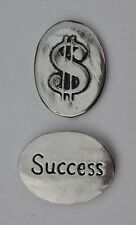 o Success dollar sign $ spirit PEWTER POCKET TOKEN CHARM basic coin