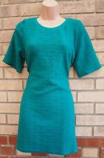 RIVER ISLAND GREEN QUILTED FEEL LONG TOP T SHIRT TUNIC CAMI VEST DRESS 12 M