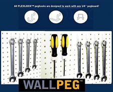 "60 Pc.1/4"" PEG BOARD HOOKS Shelf Hanger Kit Garage Storage Pegboard Hanging Set"
